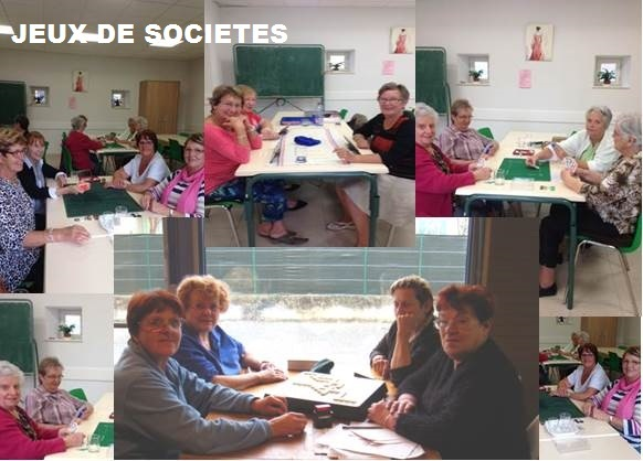 Jeux de société de l'Association familiale de Montségur sur Lauzon